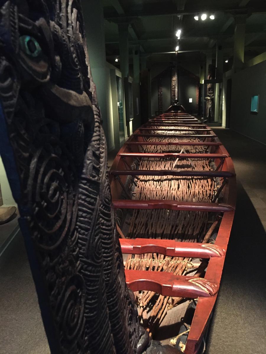 Waka  Maori Canoe Otago Museum Dunedin New Zealand