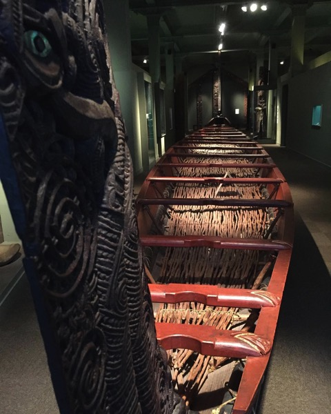 Waka (Maori Canoe) at the Otago Museum, Dunedin, New Zealand