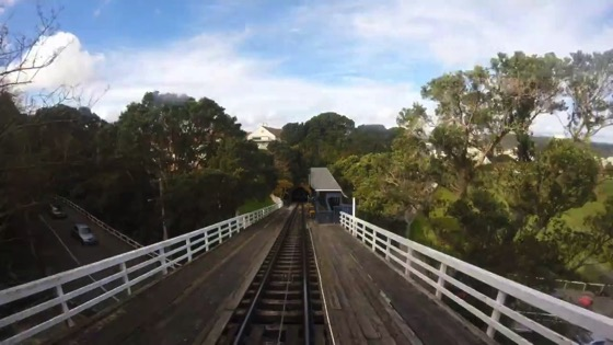 A Ride on the Wellington Cable Car Timelapse
