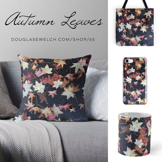 Autumn Leaves Pillows, Totes, Mugs and More!