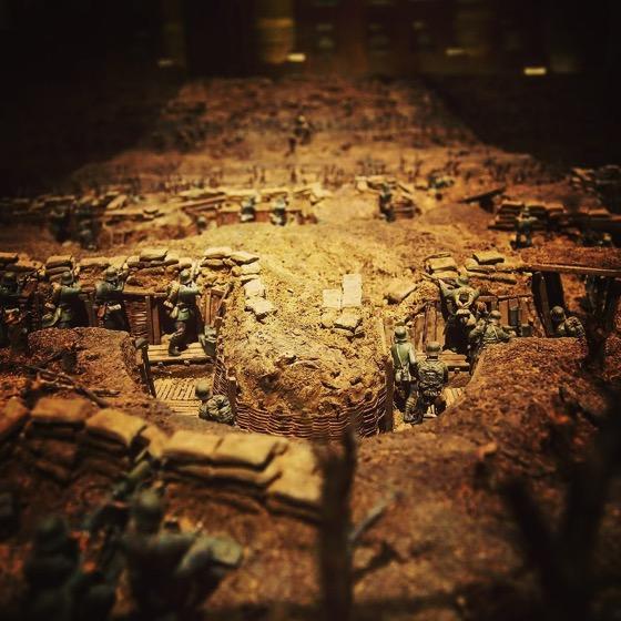 WWI Battlefield Miniature Diorama