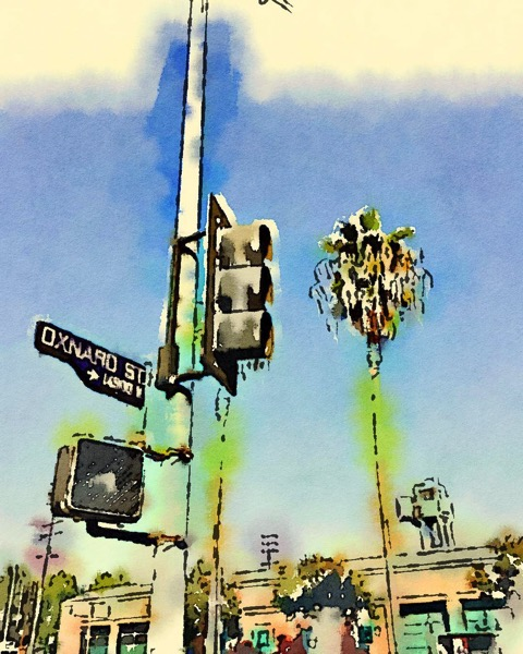 LA/SFV Street Scene Watercolor via Instagram