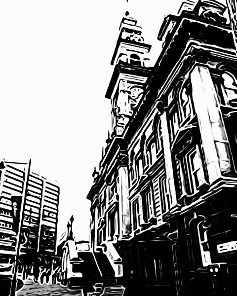 Municipal Chambers, Dunedin, New Zealand via ToonPAINT
