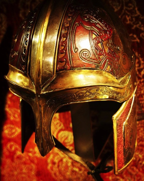 Riders of Rohan Helmet, Lord of the Rings film costume via Instagram