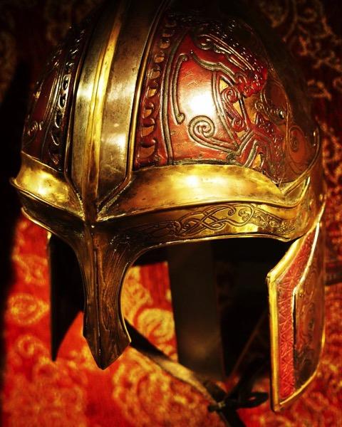 Riders of Rohan Helmet, Lord of the Rings film costume via Instagram
