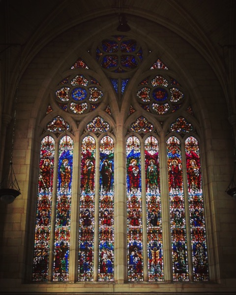 Stained Glass, St. Paul's Cathedral, Dunedin, New Zealand