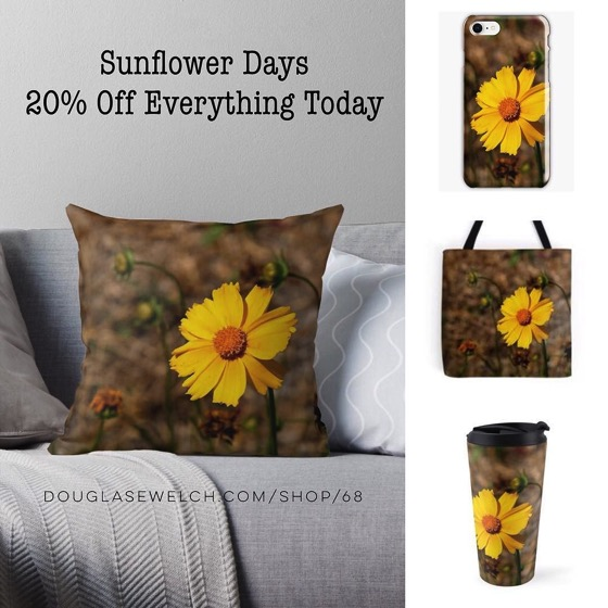 20% Off Everything Today Including these Sunflower Days Totes, Mugs, Smartphone Cases and More!
