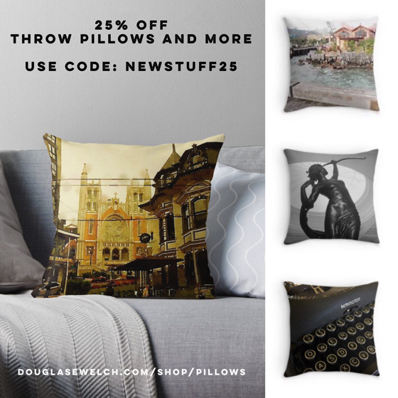 25% Off Throw Pillows and More Today from Douglas E. Welch's Shop