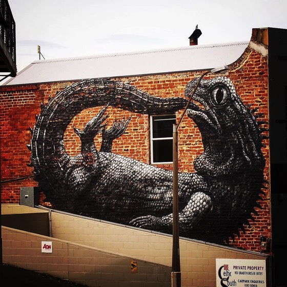 Tuatara Mural, Dunedin, New Zealand