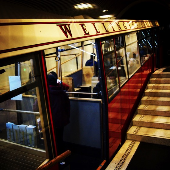 Wellington Cable Car at Lambton Quay Station