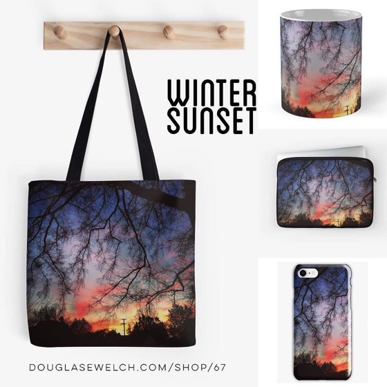 Winter Sunset Totes, Mugs, Smartphone Cases and More!