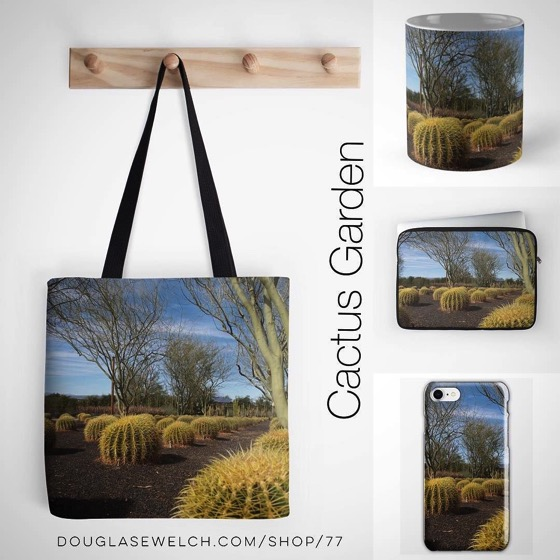 Get these Cactus Garden Totes, Laptop Sleeves, Mugs, iPhone Cases and More!