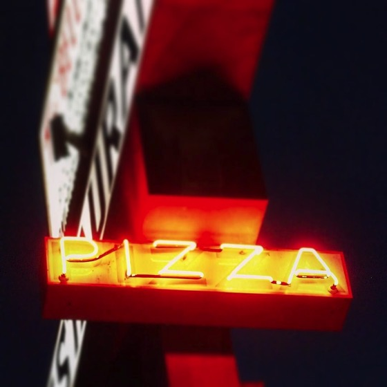 Pizza in Neon via Instagram