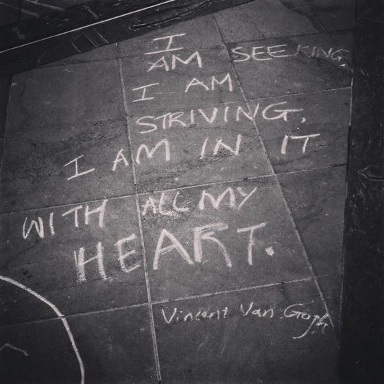 """""""I am seeing. I am striving. I am in it with all my heart."""" via Instagram"""