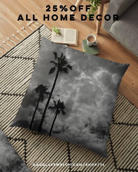 25% Off All Home Decor Including these Stormy Sky Pillows