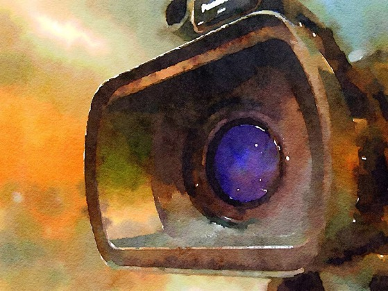 The Unblinking Eye in Watercolor