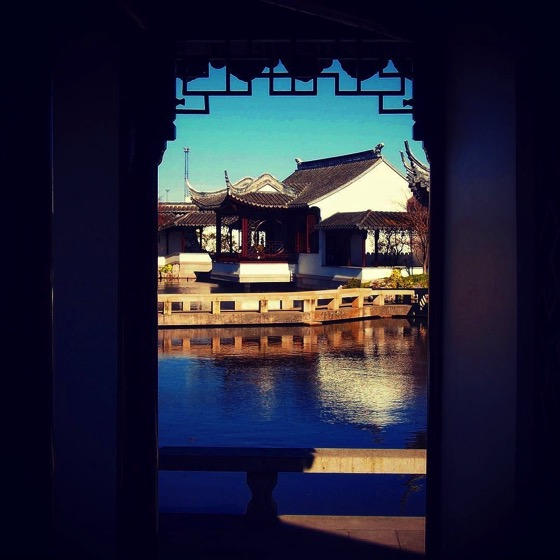 View towards garden entrance, Dunedin Chinese Garden via Instagram