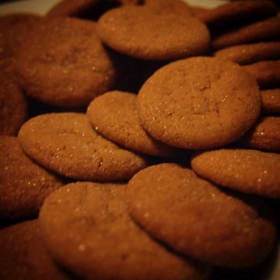 Soft Ginger Cookies via Instagram