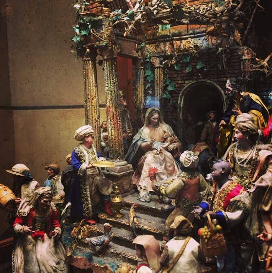 Neapolitan Prespe (Nativity) at Our Lady of the Angels Cathedral in Los Angeles via Instagram