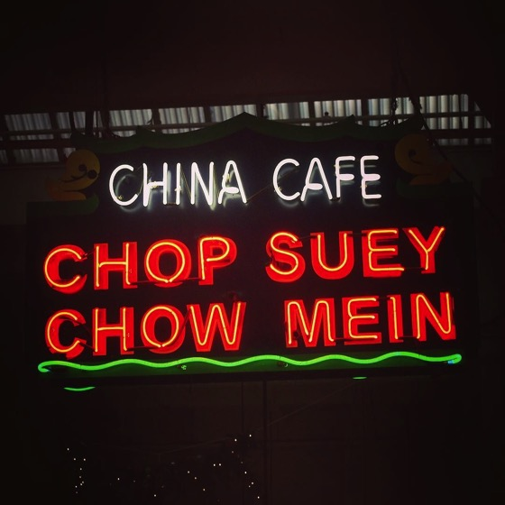 My Los Angeles 27 - Chop Suey/ Chow Mein Neon at Grand Central Market via Instagram
