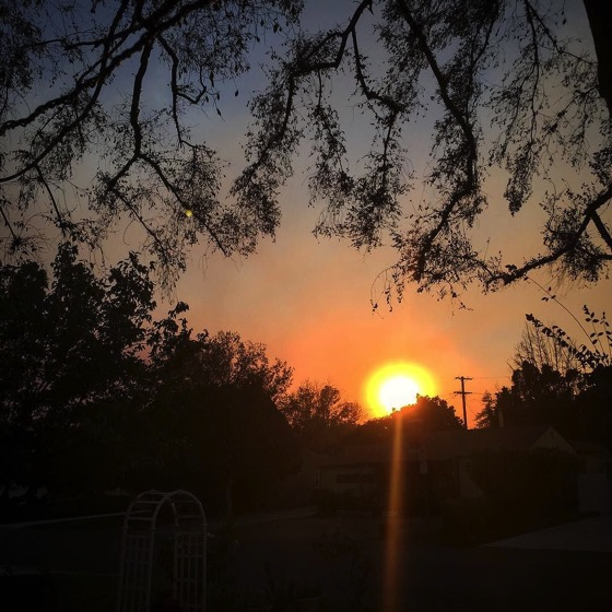 Smokey Sunset in Van Nuys via Instagram