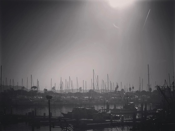 Haze and smoke over Ventura Harbor as we await our boat to Santa Cruz Island via Instagram