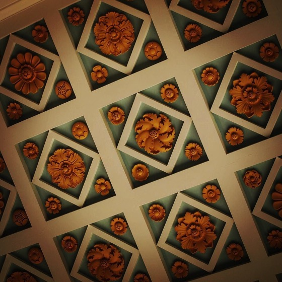 Ceiling Detail, Getty Villa, Malibu, California via Instagram