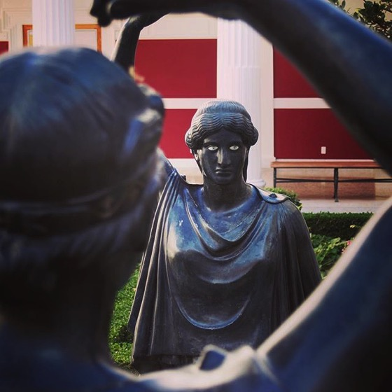 Courtyard Sculptures, Getty Villa via Instagram