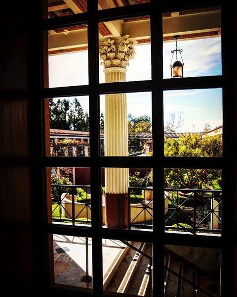 Getty villa window