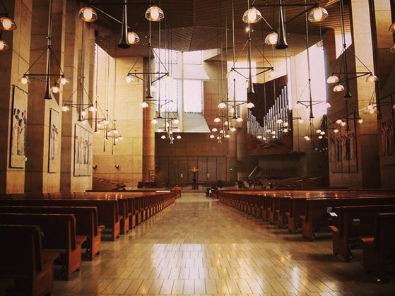 My Los Angeles 42 - Cathedral of Our Lady of the Angels Interior via Instagram