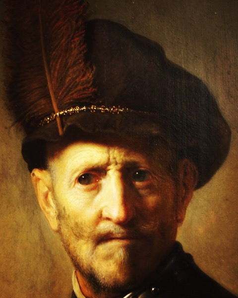 Rembrandt Detail, Getty Center via Instagram