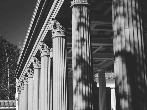 Columns, Getty Villa via My Instagram