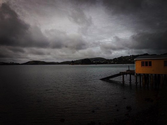 Boathouse on Otago Harbor, Dunedin, New Zealand via Instagram