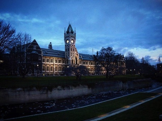 University of Otago at Night, Dunedin, New Zealand