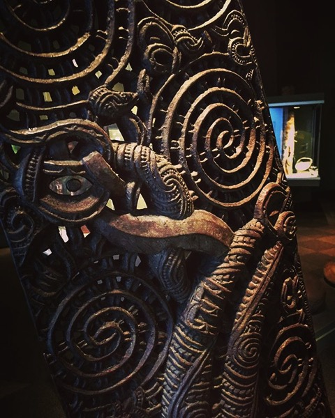Waka (Maori Canoe) Detail from My Instagram