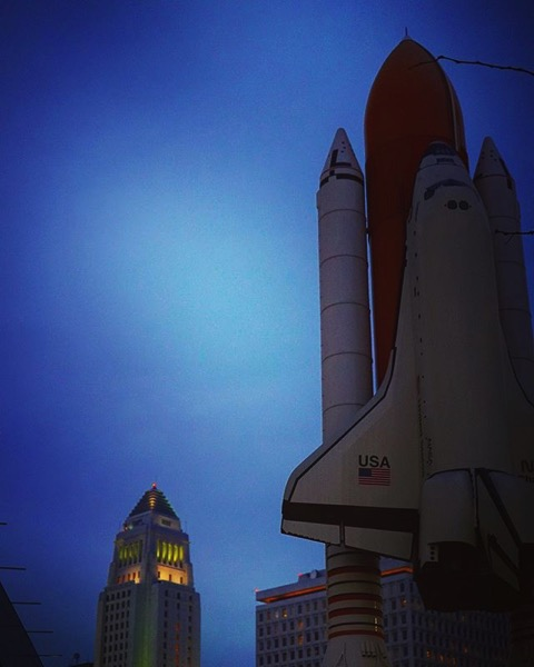 Little Tokyo, Space Shuttle Challenger Memorial and LA City Hall via My Instagram