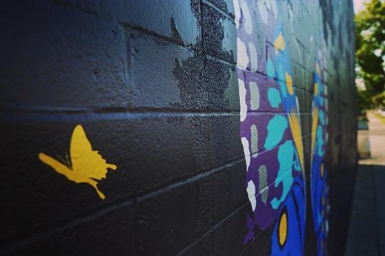 Wonderful Butterfly Street Mural via My Instagram