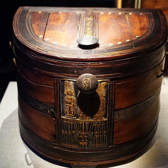 Wooden Box With Hieroglyphics  via My Instagram