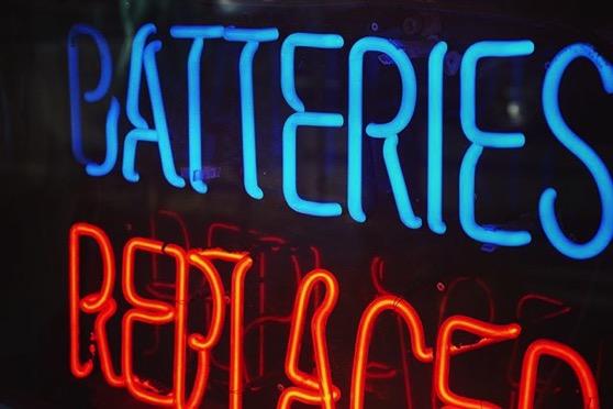 Neon Batteries via My Instagram