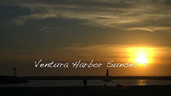 Ventura Harbor Sunset in 4k - 2 in a series [Video] (1:00)