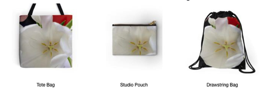 Spring is Here! – Get these Glowing White Tulip Cards, Pillows, Cases, Totes and More!