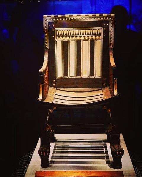 Pharoh's Chair, King Tut: Treasures of the Golden Pharaoh via Instagram