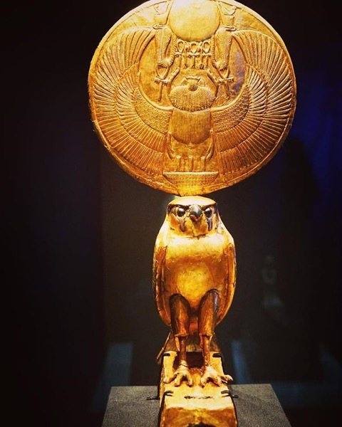 Golden Solar Horus Figure via My Instagram
