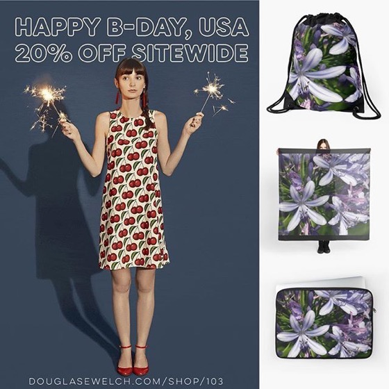 20% OFF Sitewide - 4th of July Sale - Get These Natural Agapanthus Flower Fireworks on Totes, Bags, Scarves, and Much More!