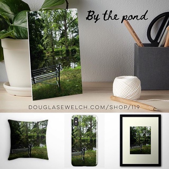 "Take A Break and Relax ""By The Pond"" with these Pillows, Prints, iPhone Cases, and Much More!"