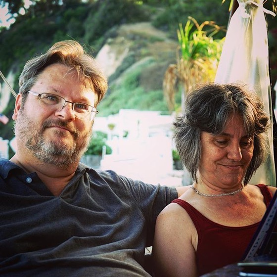 Douglas & Rosanne Chiilin' at Paradise Cove via My Instagram