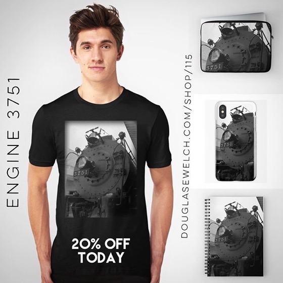 20% OFF Everything Today! -- Engine, Engine, Number Nine…Engine 3751 Tees, Totes, iPhone Cases, and more!