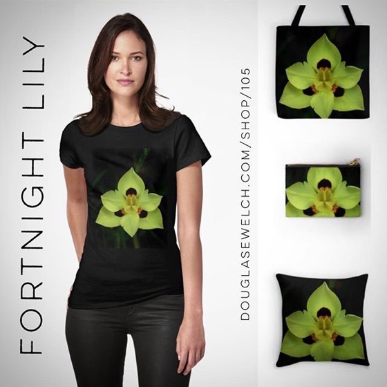 Show Some Flower Power with these Fortnight Lily Tees, Totes, Bags, Scarves, and Much More!
