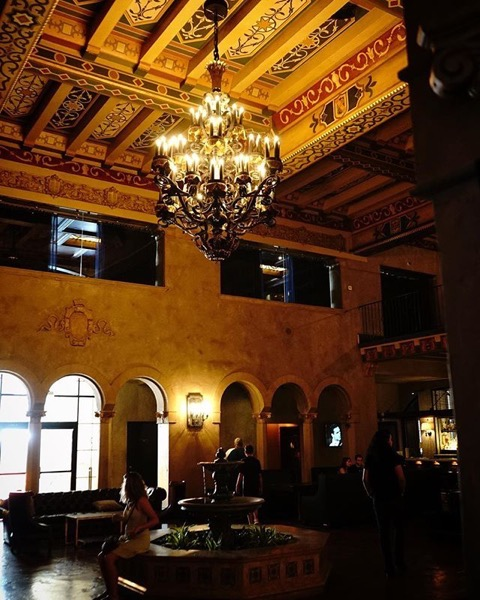 Roosevelt Hotel Interior, Hollywood, California via My Instagram