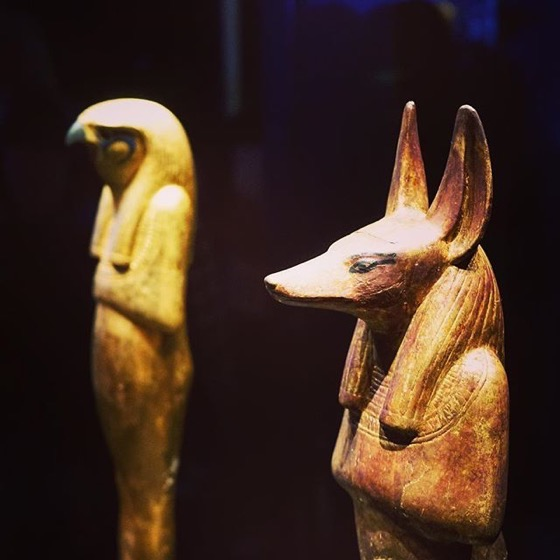 Anubis and Horus Statues via My Instagram